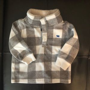 Carter's Checkered Fleece Button Pullover - 6M